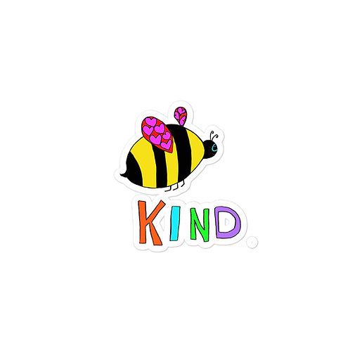Bee Kind Bubble-free stickers