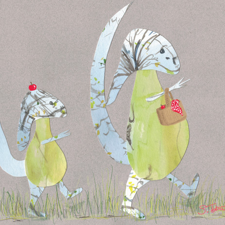 Tree Monsters off on a Picnic