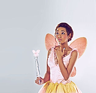 Girl in Butterfly Costume