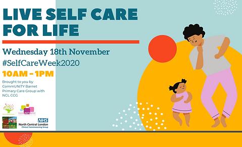 Live self care poster, previous event