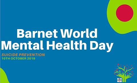 Barnet World Mental health day  poster