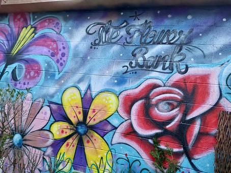 Graffiti at The Flower Bank - Thank you