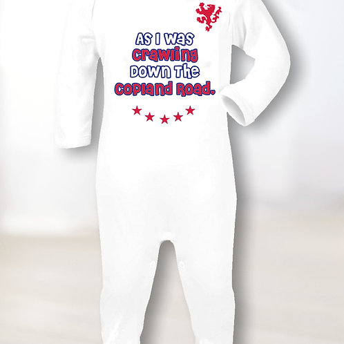Walk Down Copland Road Sleepsuit