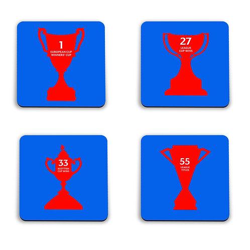 Rangers Major Honours Coasters Set