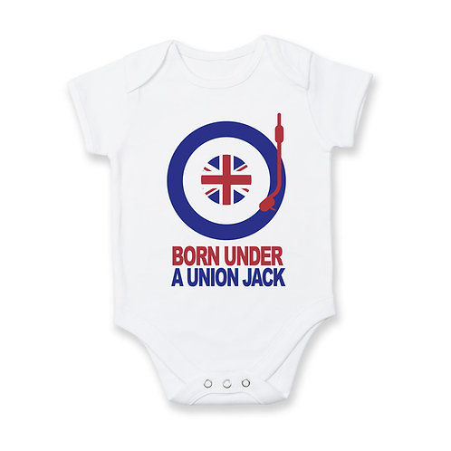 Born Under A Union Jack Babygrow