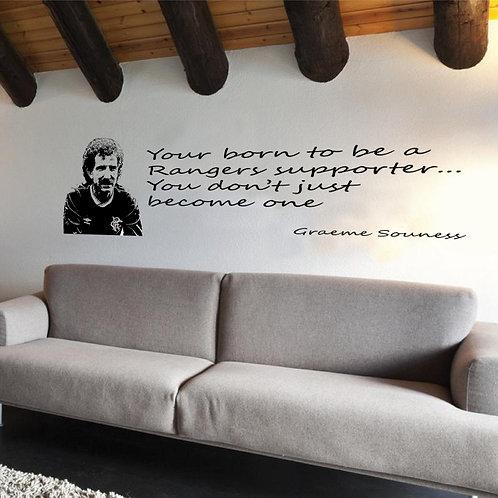 Graeme Souness Vinyl Wall Art