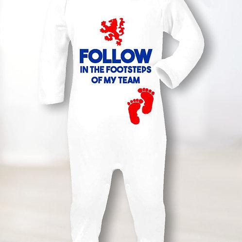 Follow In Footsteps Sleepsuit