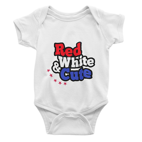 Red, White & Cute Babygrow