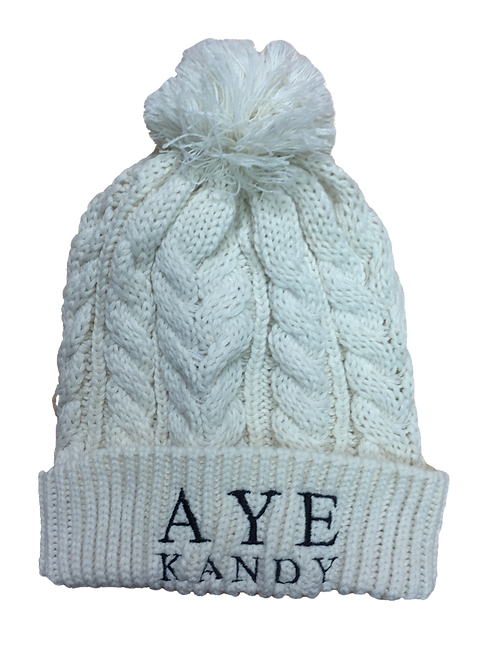 Oatmeal Bobble Hat