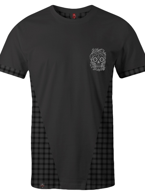 Tartan Panel T-Shirt