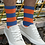 Thumbnail: Orange/Blue Bar Socks