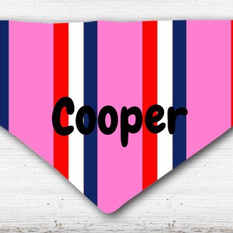 Pink Bar Scarf Dog Scarf Collar