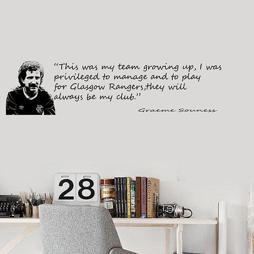 Graeme Souness - My Club Quote