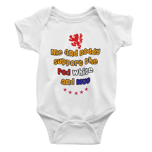 Support Red White and Blue Babygrow