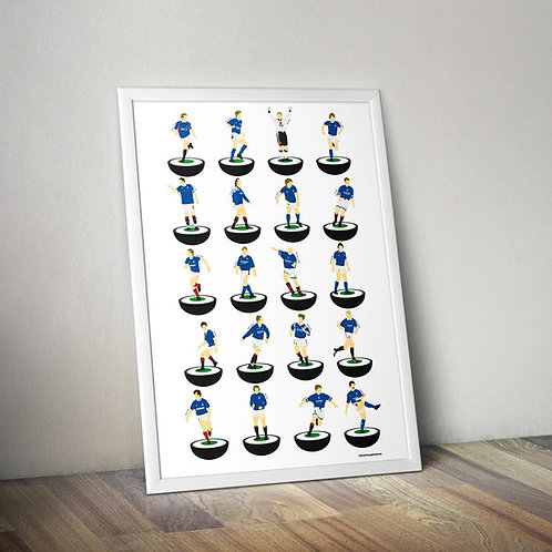Legends A3 Subbuteo Art Print