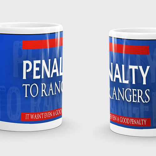 Penalty to Rangers Mug