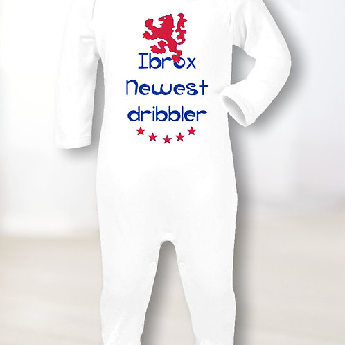 Ibrox Newest Dribbler Sleepsuit