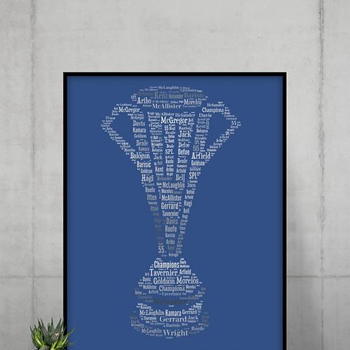 Scottish Premiership Trophy A3 Art Print