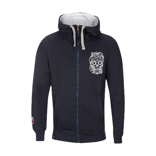 Aye Kandy Skull Dark Navy Zipped Hoodie