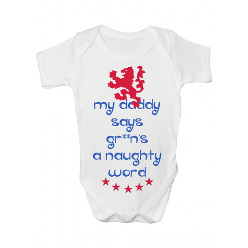 Naughty Word Babygrow