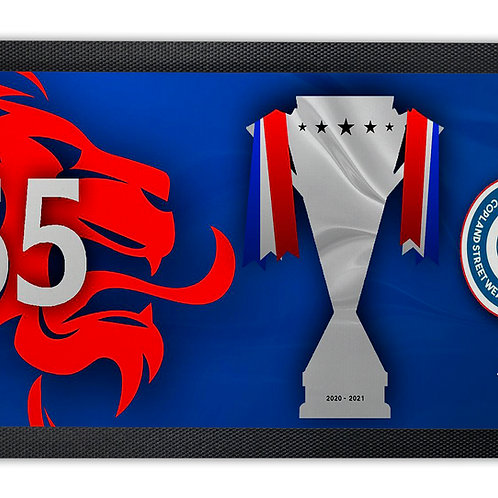 Rangers 55 Titles Bar Runner Mat