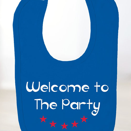 Welcome To The Party Bib