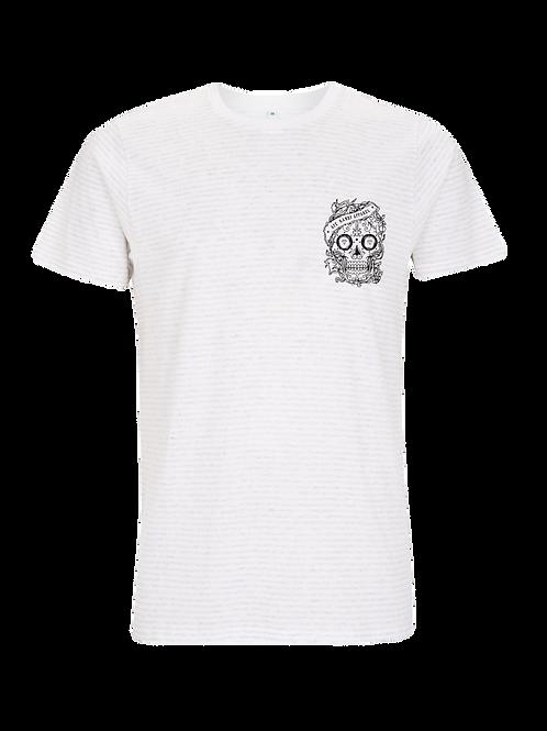 The Nautical White/Melange White Stripes T-Shirt