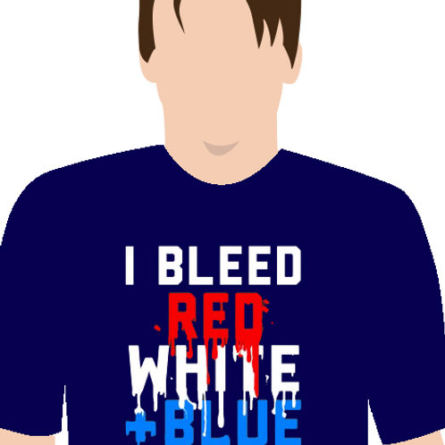 Bleed Red White + Blue