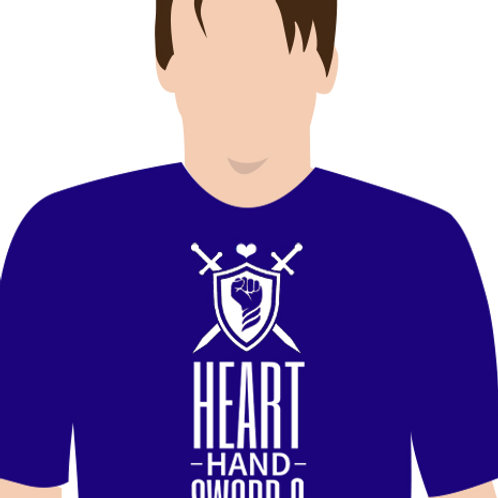 Heart Hand Sword Shield T-Shirt