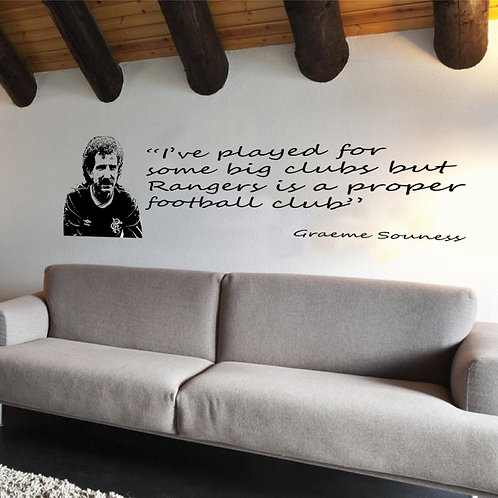 Graeme Souness - Proper Club Quote