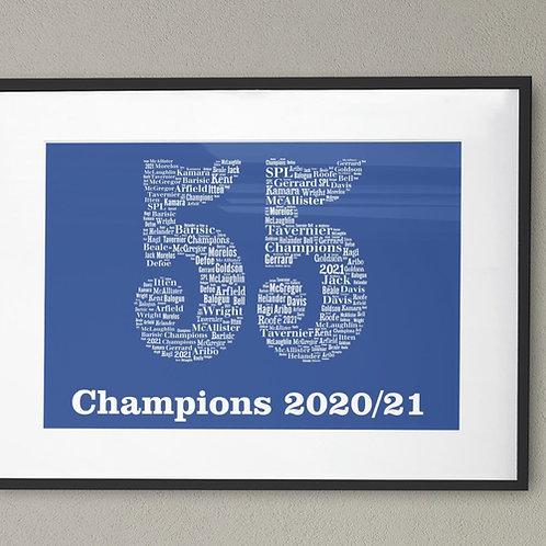 55 Titles A3 Art Print