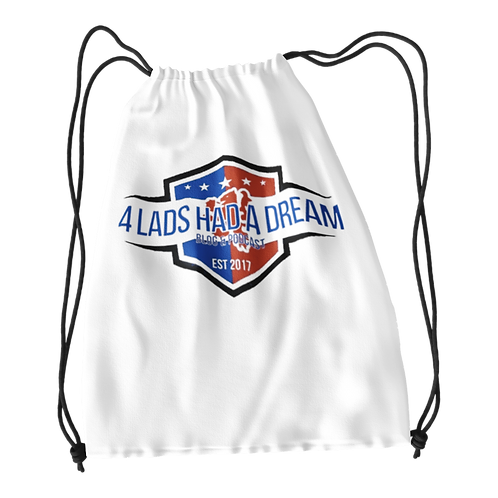 Four Lads Blog Drawstring Bag
