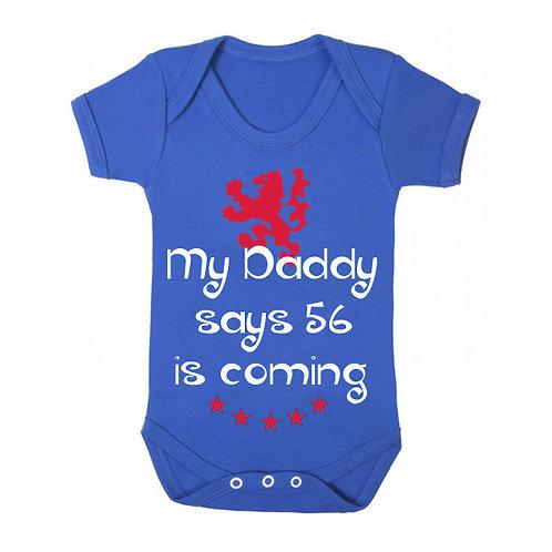 56 Is Coming Babygrow