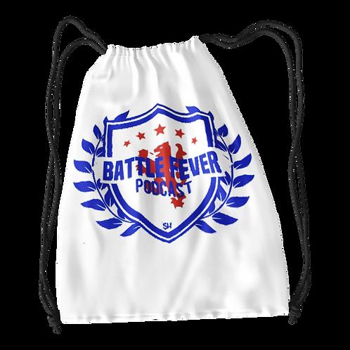 Battle Fever Podcast Drawstring Bag