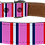 Thumbnail: Pink Bar Scarf Faux Leather Dog Collar