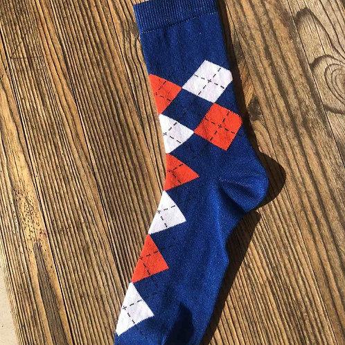 Home Famous Blue Argyll Socks