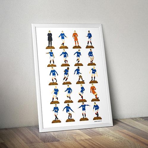Champions Squad A3 Subbuteo Art Print