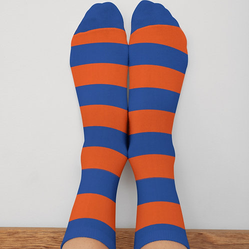 Orange/Blue Bar Socks