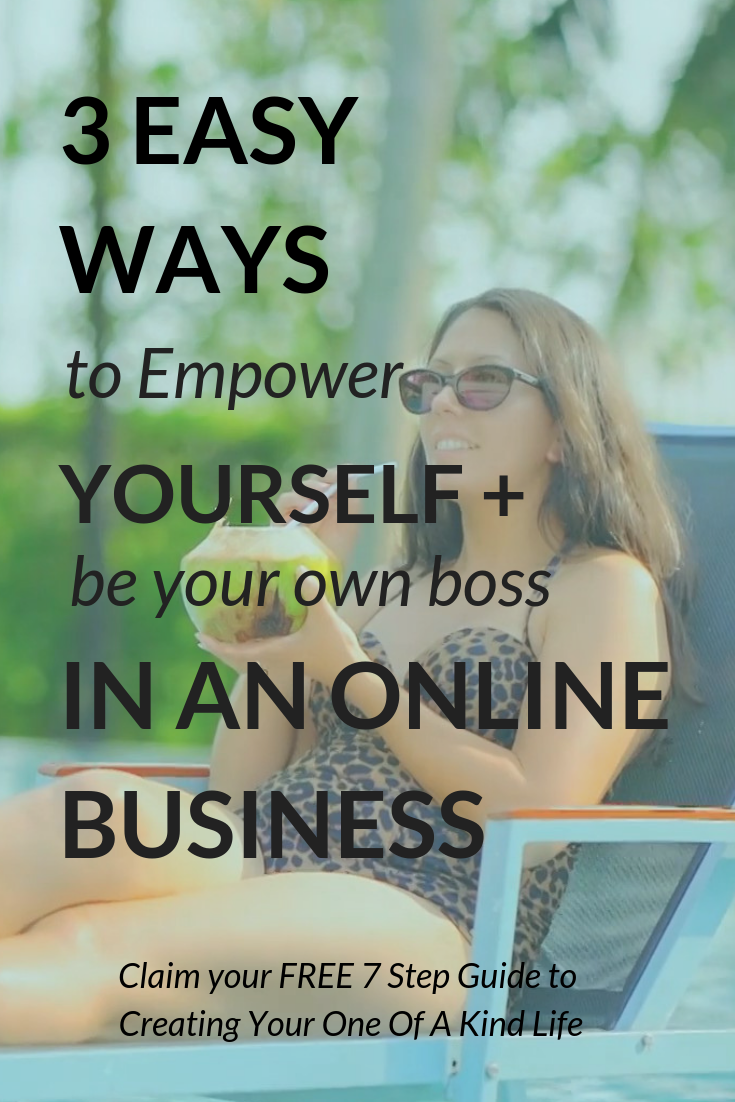 3 Easy Ways To Empower Yourself + Be Your Own Boss In An Online Business | If you want to be your own boss in an online business, but you're not sure how to unshackle yourself and find the most empowered version of you, then this post is for you! It includes 3 tips for budding business owners, designed to kick you off on your entrepreneurial journey -rock on! Click through to check out all the tips.