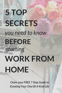 5 Top Secrets You Need To Know Before Starting Work From Home / If you're looking to work from home and wondering where to get started with it all, then this post is for you. It's got 5 awesome tips to get you on the right track and making progress. Click through to check out my tips.
