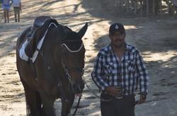 Barn manager Arturo with Ursina
