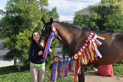 Mia and her mare Olivia!