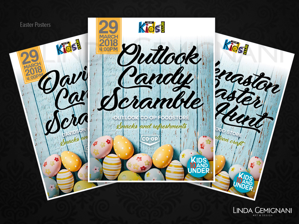 COOP Candy Scramble Posters