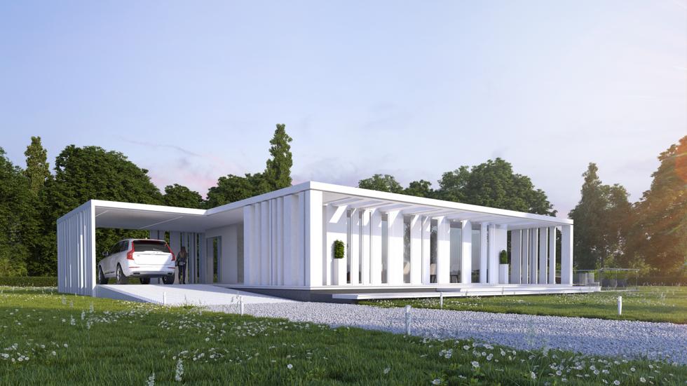 Vrij ontwerp kubistisch huis