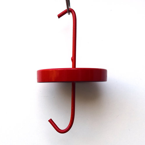 Hummingbird feeder ant barrier powered by AntCant - Red Aluminum