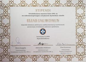 Stipendihaku ortodoksioppilaille
