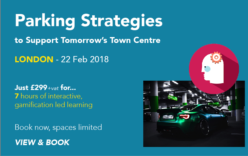 town centre parking strategies training course, London 2018