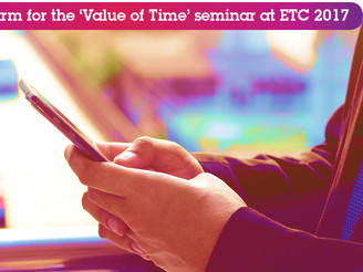 Value of Time at ETC 2017, 2-day Seminar Announced