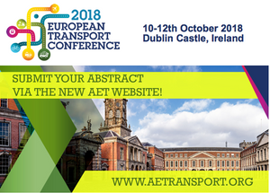Submit your abstract for ETC 2018, leading transport planning conference