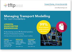 Managing Transport Modelling training course - book now